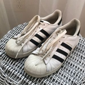 Adidas Superstar Tennis Shoes 6.5 White and Black